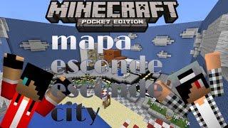 getlinkyoutube.com-Minecraft pe 0.13.0 b2-mapa esconde esconde city