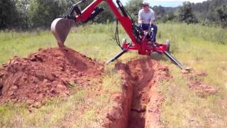 getlinkyoutube.com-4 ft. deep dig with a towable backhoe