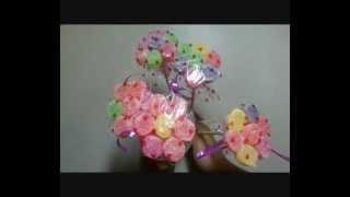 getlinkyoutube.com-Como fazer flores de jujuba para decorar festas