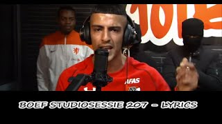 getlinkyoutube.com-101 Barz - Studiosessie 207 BOEF (Lyrics) (Songtekst)