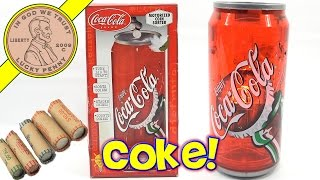 getlinkyoutube.com-Coca Cola Coin Sorting Bank - Sorts, Counts, Enjoy A Coke!