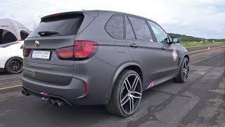getlinkyoutube.com-BMW X5 M G-POWER - REVS & DRAG RACE!