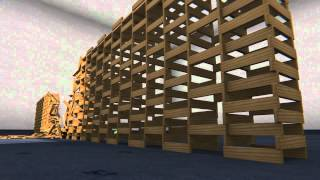 getlinkyoutube.com-Blender 2.63a: Kapla Wall II - Somewhat Realistic Building Collapse, Physics Test