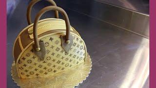 getlinkyoutube.com-Louis Vuitton Handtaschen Torte - Taschenkuchen Tutorial - Fondant Handtasche - von Kuchenfee