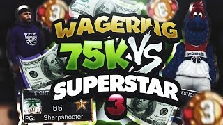getlinkyoutube.com-$75,000 WAGER GAME OF 2K VS SUPERSTAR 3 MASCOT SQUAD!!! SERIES OF THE YEAR!!! NBA 2K17