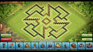 "Clash of Clans: Best Farming Base ""Shuriken"" HDV10/TH10 #5"