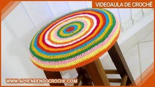 getlinkyoutube.com-Capa de Crochê Banqueta Redonda