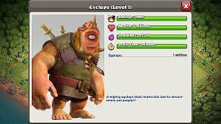 getlinkyoutube.com-Clash Of Clans - NEW TROOP!!! CHALLENGE!!! CYCLOPS GIANT (Create your own)