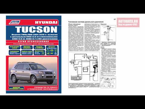 Руководство по ремонту Hyundai Tucson 2004-2010 бензин, дизель