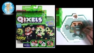 getlinkyoutube.com-Qixels Zombies Refill Pack - Zombie Craft Project - Family Toy Report