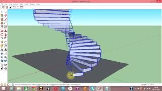 getlinkyoutube.com-Google Sketchup Tutorial Complex Spiral Staircase