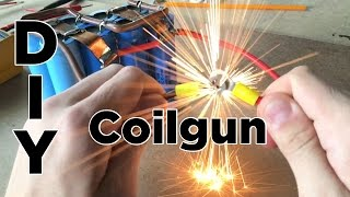 getlinkyoutube.com-Ben Builds: DIY Easy Coilgun | Electronic Projectile Launcher