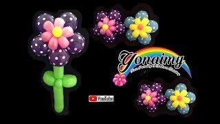 getlinkyoutube.com-FLOR  DOBLE PARA DECORACION.- BALLOON FLOWER .