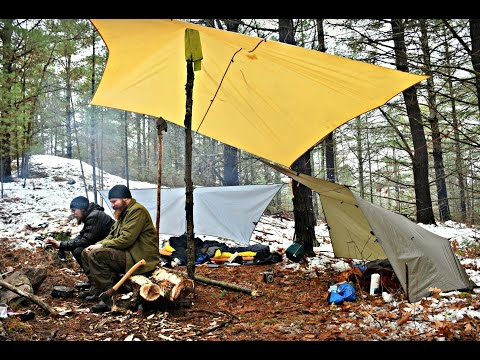 The Soggy Saga of Joe and Co. or.. Tarp Camping in the Snow with Friends.