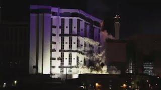 getlinkyoutube.com-End of Era: Epic implosion of legendary Riviera Hotel & Casino in Las Vegas