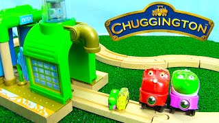 getlinkyoutube.com-Chuggington Trains Wooden Chug Wash for Wooden Railway Tracks with Surprise Eggs
