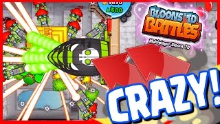 getlinkyoutube.com-Bloons TD Battles - CRAZY LATE GAME RAY OF DOOM! NEW MAP CONCRETE ALLEY - BTD Battles 8 Temples!