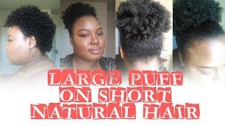 getlinkyoutube.com-How To: Large Puff On Short Natural Hair | Ammina Rose