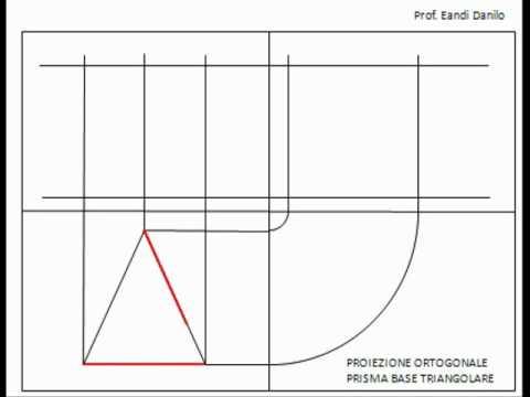 Come disegnare la proiezione ortogonale di un prisma for Come disegnare un piano di casa