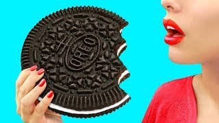 9 DIY Giant Candy vs Miniature Candy / Funny Pranks!