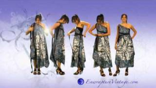 "getlinkyoutube.com-How to Tie your Enwrapture Vintage Goddess Maxi Scarf Multi Wear Dress. "" Arachne Collection"""