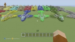 getlinkyoutube.com-Minecraft Xbox 360 Edition: How To Build The UNSC Pelican with Halo Mammoth Show Off