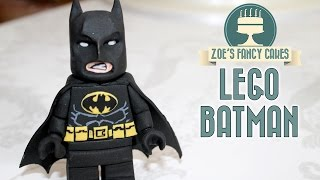 getlinkyoutube.com-LEGO BATMAN CAKE TOPPER | fondant figure lego movie