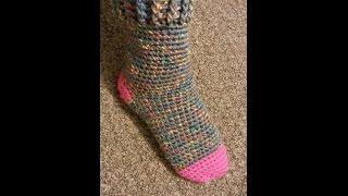 getlinkyoutube.com-CROCHET How to #Crochet Cute & Quick Sock #TUTORIAL #180
