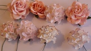 getlinkyoutube.com-Wild Orchid Crafts- Tutorial on altering paper flowers.