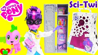getlinkyoutube.com-My Little Pony SDCC Science Twilight Sparkle Equestria Girl Doll with Spike