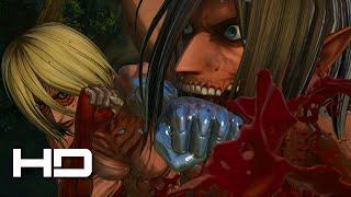 getlinkyoutube.com-ATTACK ON TITAN (PS4) Eren VS Female Titan Full Fight - Walkthrough Gameplay Cutscene