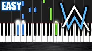 getlinkyoutube.com-Alan Walker - Faded - EASY Piano Tutorial by PlutaX