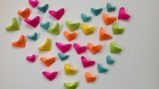 getlinkyoutube.com-CORAZONES INFLADOS DE PAPEL.- INFLATED PAPER HEARTS .
