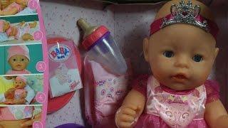 getlinkyoutube.com-Lalka Interaktywna Księżniczka / Interactive Princess Doll - Baby Born - Zapf Creation