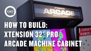 "getlinkyoutube.com-How to Build an Arcade Machine: Xtension 32"" Pro Arcade Machine Cabinet Overview"