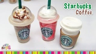 getlinkyoutube.com-Starbucks Coffee (LID) polymer clay tutorial /  Café de Starbucks de arcilla polimérica