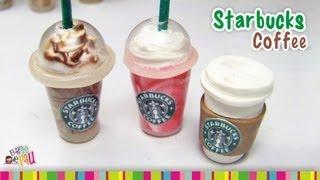 Starbucks Coffee (LID) polymer clay tutorial /  Café de Starbucks de arcilla polimérica