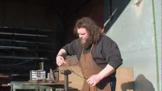 Forging Arrow Heads - Rolling the Socket -