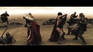 300 - Astinos and Stelios Battle Scene - With TDKR Music