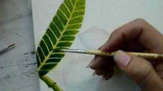 getlinkyoutube.com-Paint Plumeria Part 2