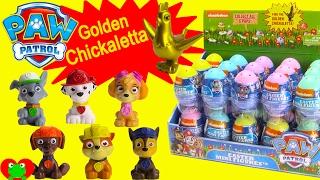 getlinkyoutube.com-Paw Patrol Surprise Egg GOLDEN Chickaletta