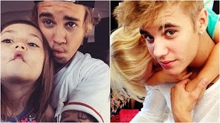 getlinkyoutube.com-Justin Bieber and Jazmyn Bieber & Jaxon Bieber - Funny, Cute Moments