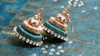 getlinkyoutube.com-Silk Thread jewellery using Paper Quilling mold -Silk Thread Jumka