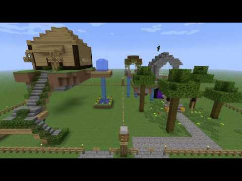 Minecraft Building Challenge - Ep 3 - Floating Mansions