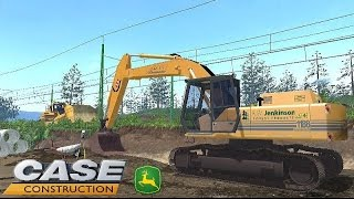 getlinkyoutube.com-Excavator/Pelleteuse Case 1188 Powersensor (Chantier n°104)