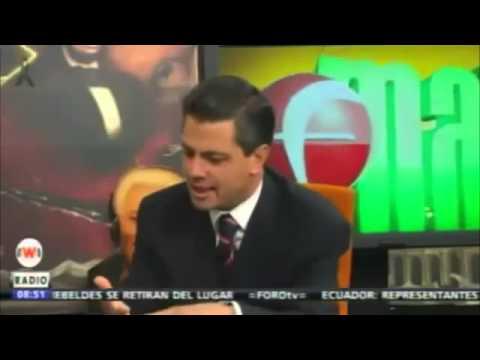 Presidente de Mexico Peña Nieto en Entrevista con Brozo 13 06 12 Peña Nieto