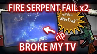 getlinkyoutube.com-STATTRAK FIRE SERPENT TRADE UP FAIL - BROKE MY TV