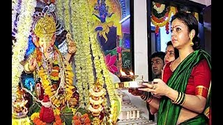 Tv Actress Devoleena Bhattacharjee Doing Ganesh Puja At Home