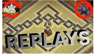 getlinkyoutube.com-REPLAYS of Th10 War Base! - The Box Fence | Anti 2 Star! | Clash Of Clans