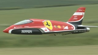 "getlinkyoutube.com-FAST RADIO CONTROL FLYING Scuderia Ferrari F1 ""Futura"" turbine JET"